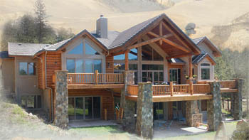 Colorado home builders mountain home photo