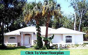 Florida home builder model photo
