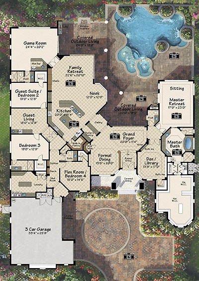 Central Florida custom home builders model - The MIlano