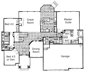 The Sorrento Alternate floorplan