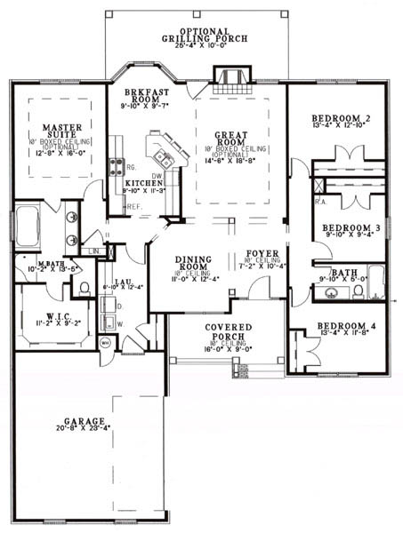 Indiana model home floorplan - The Calais