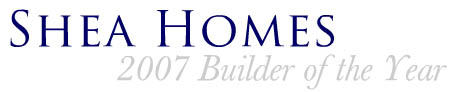Central AZ home builder's logo - Shea Homes